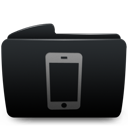Black, Folder, Iphone Icon