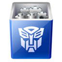 Bin, Decept, Full, Recycle, Transformers Icon