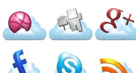Cloud Social Icons