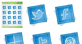 Blueprint Social Icon Set Icons