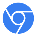 Blue, Chromium Icon