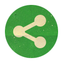 Retro, Rounded, Sharethis Icon