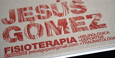 Fisioterapia business card