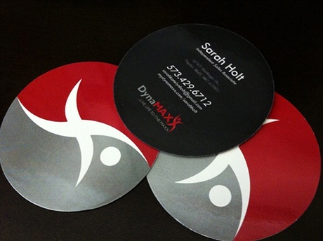 round shaped business card