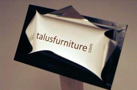 Talus Furniture Business Card business card