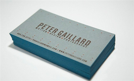 duplexed,letterpress business card