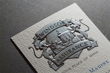 matte,fancy,2 color,embossed,foil stamped,offset printed business card