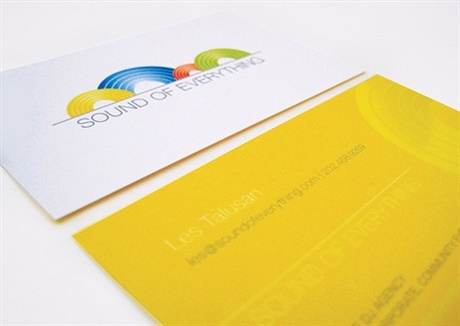 yellow,multi color business card