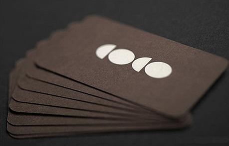 round corner business card
