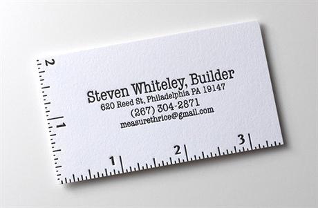 scale,letterpress business card