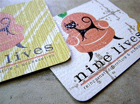 multi color,stylish business card