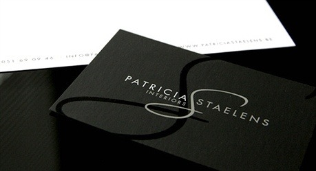 Patricia Staelens Interiors business card