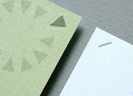 embossed,offset printed business card