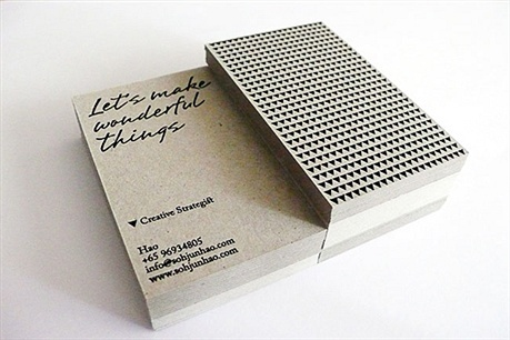 minimalistic,debossed,eco friendly,recycled paper business card