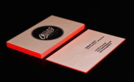 Bright Orange Letterpress business card