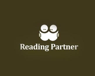 book,face,cartoon logo