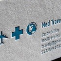 Med Traveler Letterpress Card