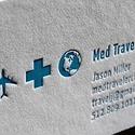 Med Traveler Letterpress Card