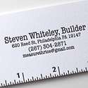 Steven Whitely Builder Letterpress Cards