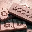Scrabble Wooden Block Cards