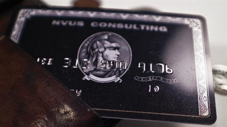 Black AMEX ' Business Card' business card