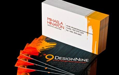 Design Nine Media Card business card
