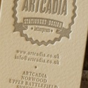Letterpress Cotton Card