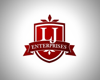 red,shield,marquee,enterprises,ribben logo