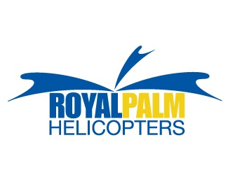 palm,royal,royal palm helicopters logo
