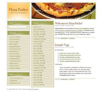 food,pizza website template