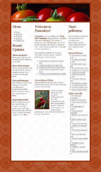 food,ingredients,tomatoes website template